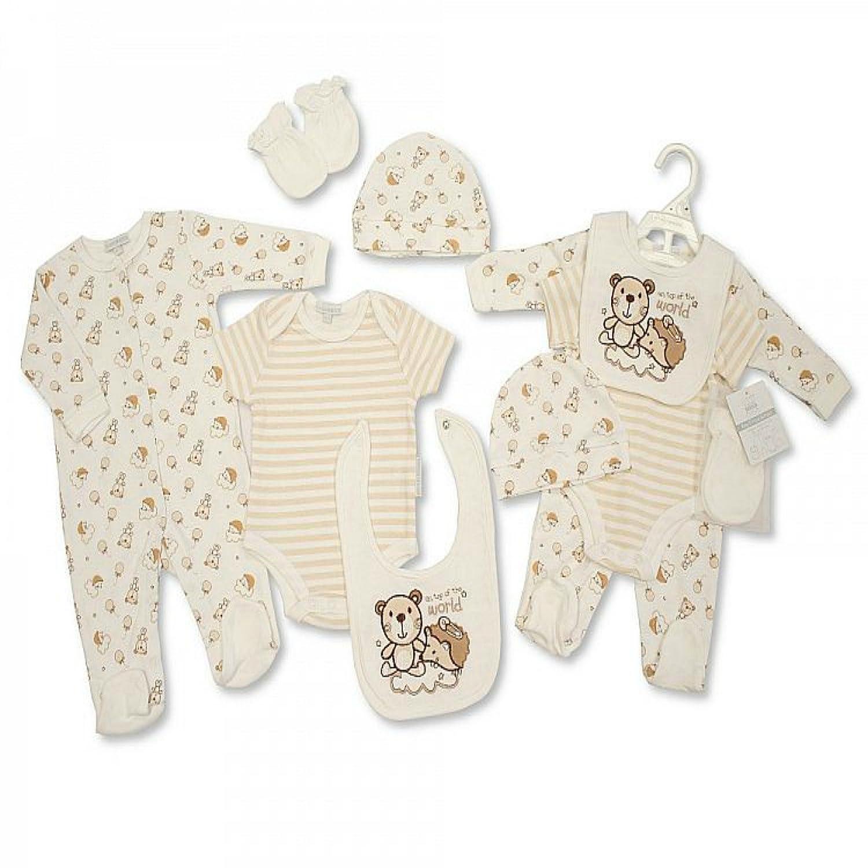 Set de regalo de 5piezas para bebés con bordado, para bebés de0-3meses azul Robot - Blue Talla:0-3 Meses Nursery Time