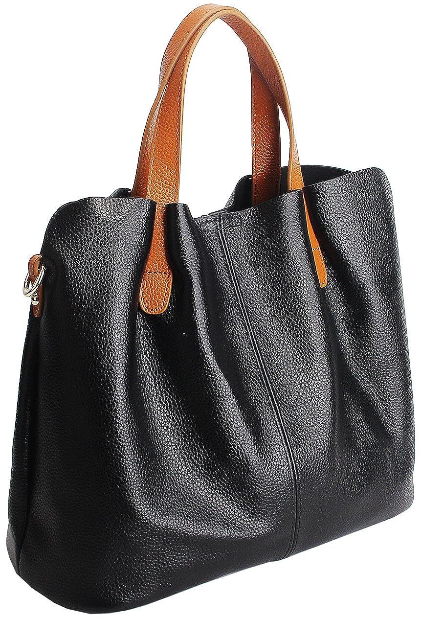 bfd851a82ef7 Kenoor Womens Leather Tote Handbags Fashion Shoulder Bag Satchel Ladies  Purse Bag Sets 2 in 1 Handbag