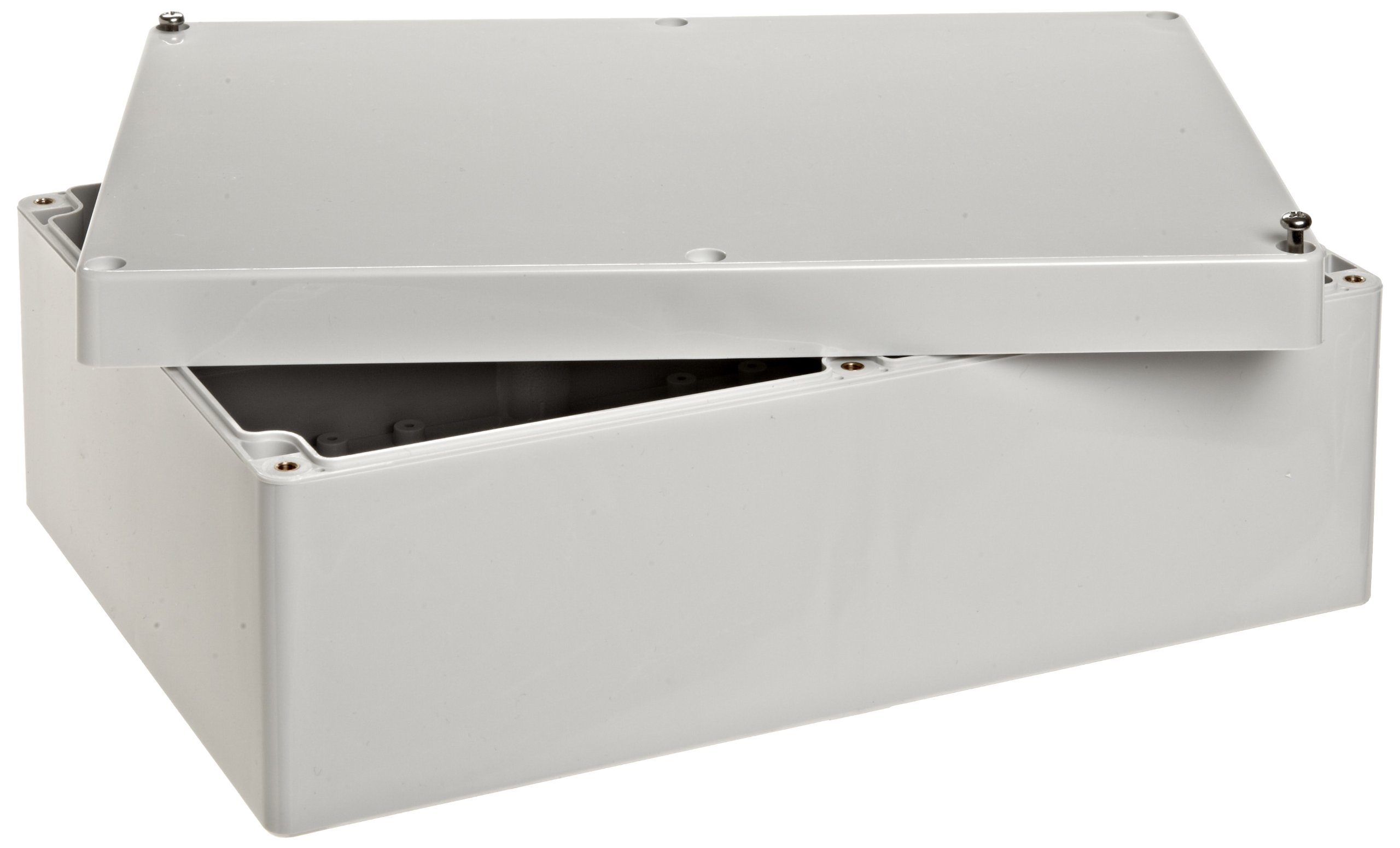BUD Industries PN-1335-DG High-Impact ABS NEMA 4x Indoor Box Dark Gray Finish 10-27//64 Length x 7-17//64 Width x 3-47//64 Height 10-27//64 Length x 7-17//64 Width x 3-47//64 Height