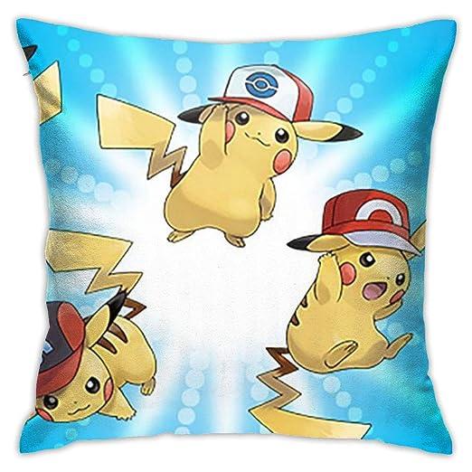 Greatbe Throw Pillow Covers Pokemon Lindo - Pikachu Ambos ...