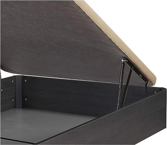 DHOME Canape Abatible Tapizado 3D 4 válvulas Maxima Calidad Esquinas canapé Madera (135x190 Negro Malla, 30mm): Amazon.es: Hogar