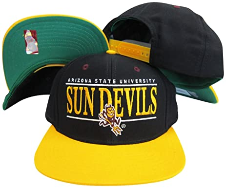 6933ab8003b0e ... sweden arizona state sun devils black yellow two tone snapback  adjustable plastic snap back hat be532 ...