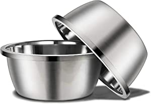 Stainless Steel Large Dog Bowl, 176oz High Capacity Dog Food Bowls for Large Dogs (2 Pack)