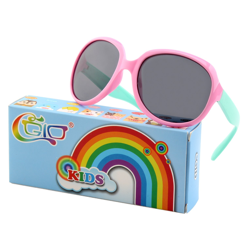 CGID Soft Rubber Kids Trendy stylish Polarized Sunglasses Flexible Frame 100% UV400 Protection for Children Boys and Girls Age 3-10,K89 18UKET889-9