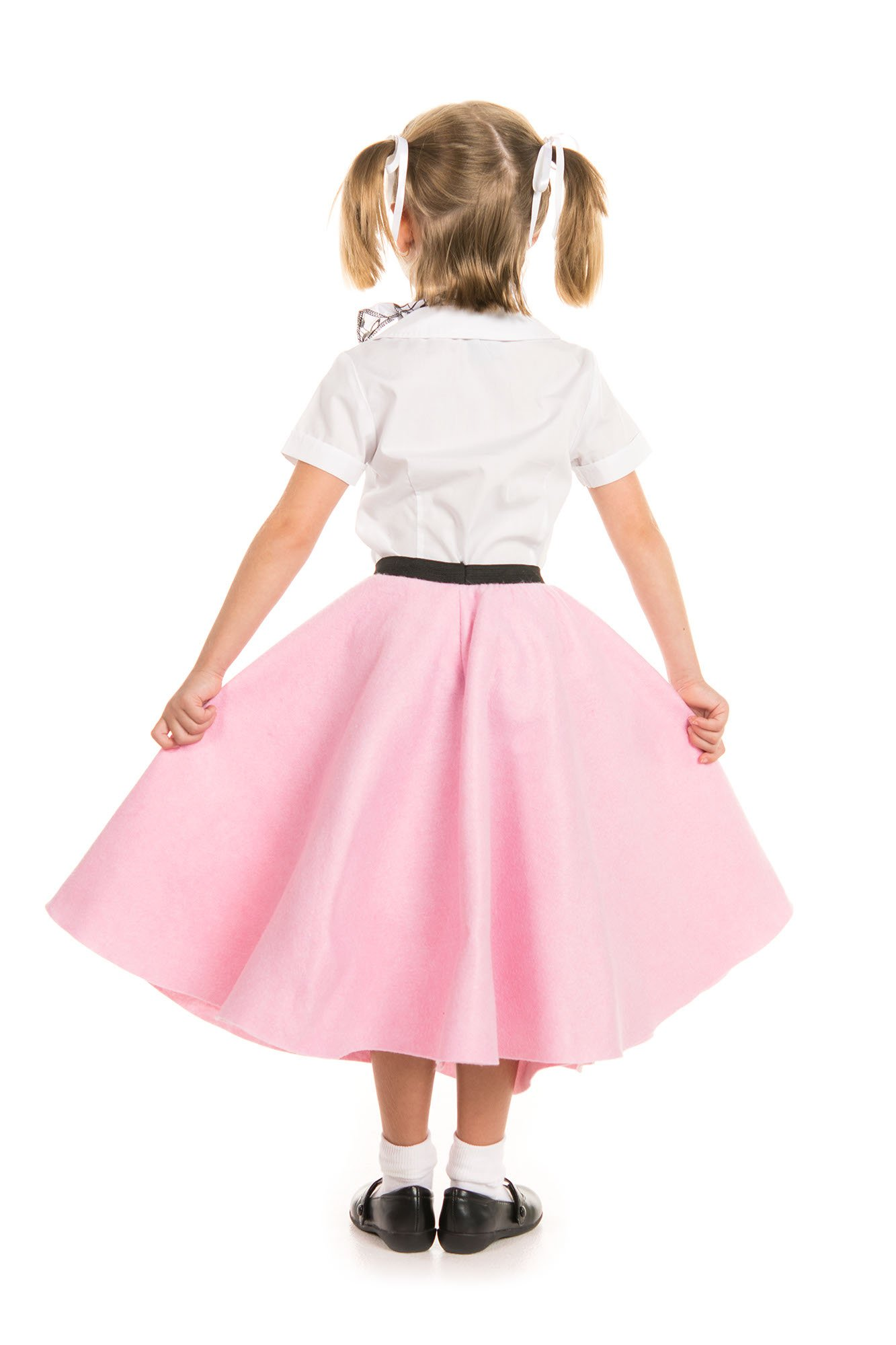 Kidcostumes Poodle Skirt with Musical Note Printed Scarf by Kidcostumes