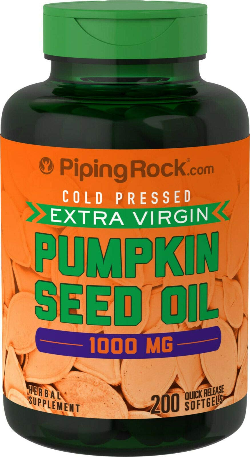 200 x 1000mg Pumpkin Seed Oil Softgel Capsules - Quick Release - 1st Class P&P