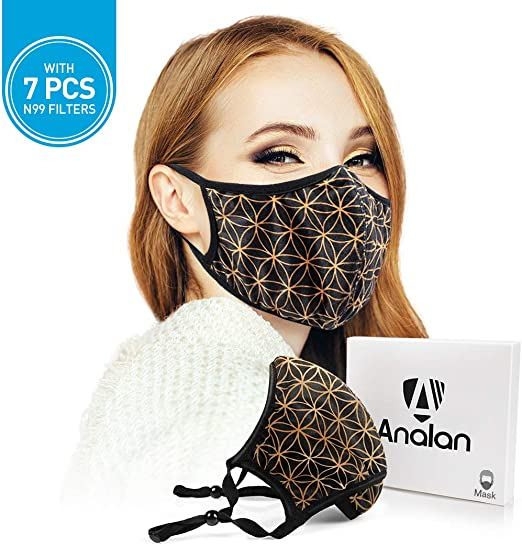 For 7pcs Allergies Mouth Washable Reusable Anti Masks Pollen Dust Air Analan Filter Pollution Mask Smoke With