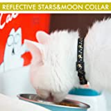 Cat Collar Stars and Moon, 3-Pack, Reflective