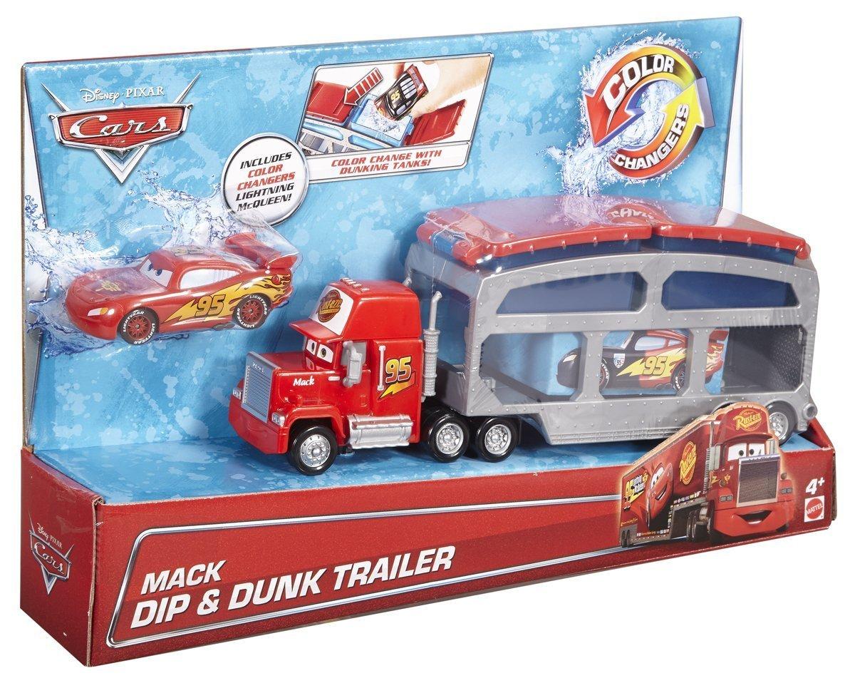 Disney/Pixar Cars Color Change Mack Dip & Dunk Trailer   eBay