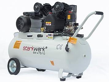Starkwerk Druckluft Kompressor SW 475/10-10 Bar - 100L Kessel ...