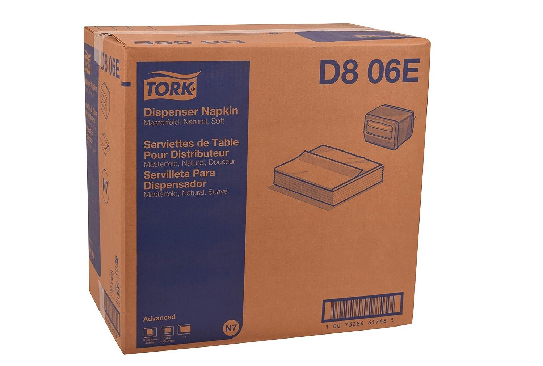 Tork d806e servilletas, papel, Natural (Pack de 6000): Amazon.es: Amazon.es