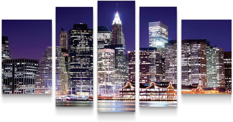Startonight Canvas Wall Art New Arlington Mall York Max 75% OFF Manhattan City NY Framed -