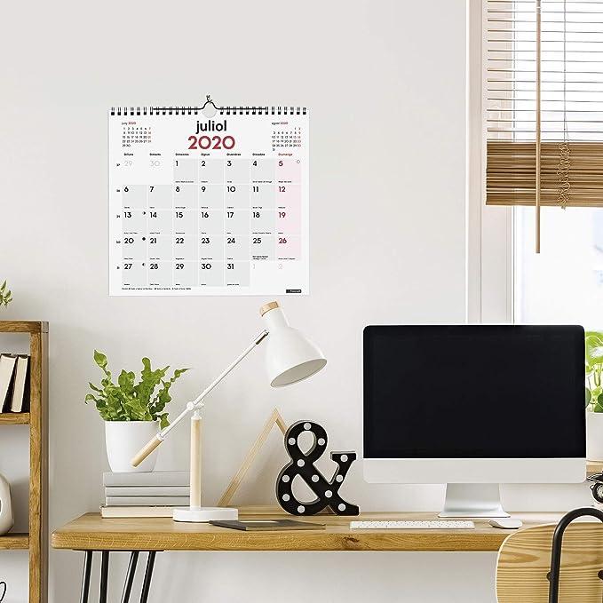 Amazon.com: Finocam - Calendario de pared 2020 Escritura ...