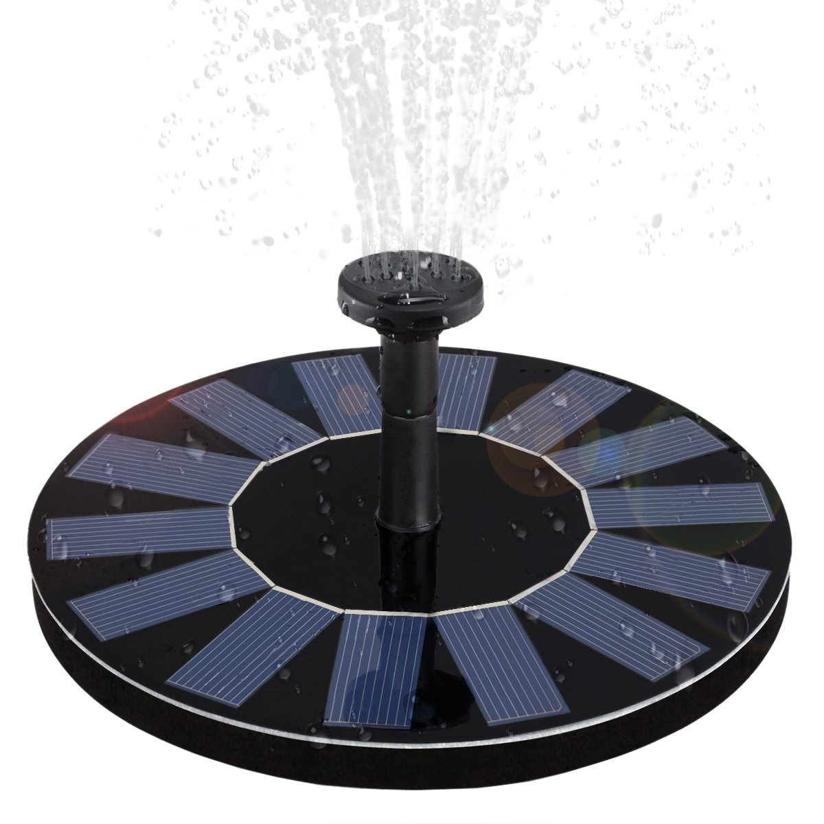 WBPINE Solar Fountain Pump, Solar Powered Floating Fountain Kit Solar Water Fountain Bird Bath Pond, Pool Garden Decoration by WBPINE