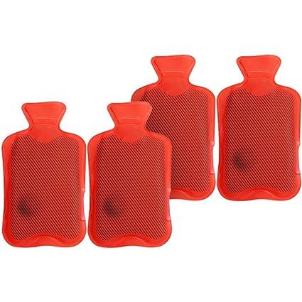"com de Four® 4 x Calentadores ""Agua Caliente el diseño clásico rojo"