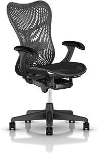 Herman Miller Mirra 2 Task Chair: Tilt Limiter - FlexFront Adj Seat Depth - Adj Lumbar Support - TriFlex Back - Adj Arms - Graphite Base & Frame