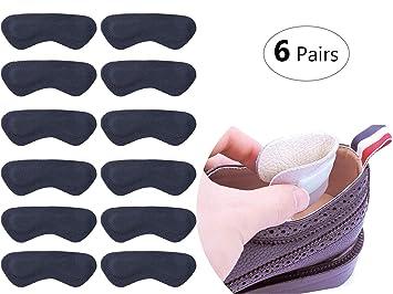 6 Pares Acolchado Talón Protección Plantillas High Heels Pads Cuero Talón plana Cuidado de los pies talón Cojín Protector de pies para juanetes Mujer ...