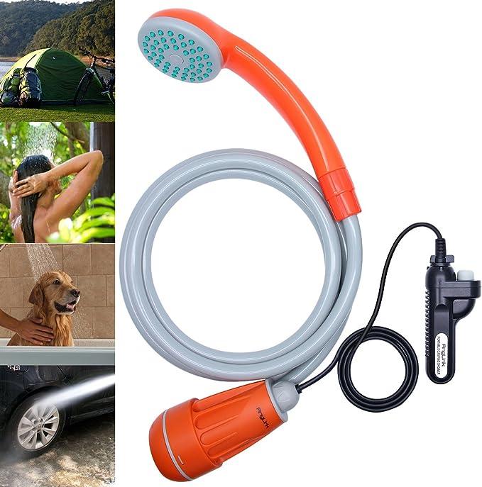 SmallPocket Campingdusche 12V Akku Outdoor Dusche Tragbare Elektrische Dusche Waschen Kit Wasserpumpe f/ür Outdoor Caravan Camping Reisen