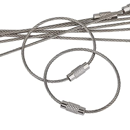Amazon Com Pawfly 20 Pcs Wire Keychain Cable 4 Inch Stainless
