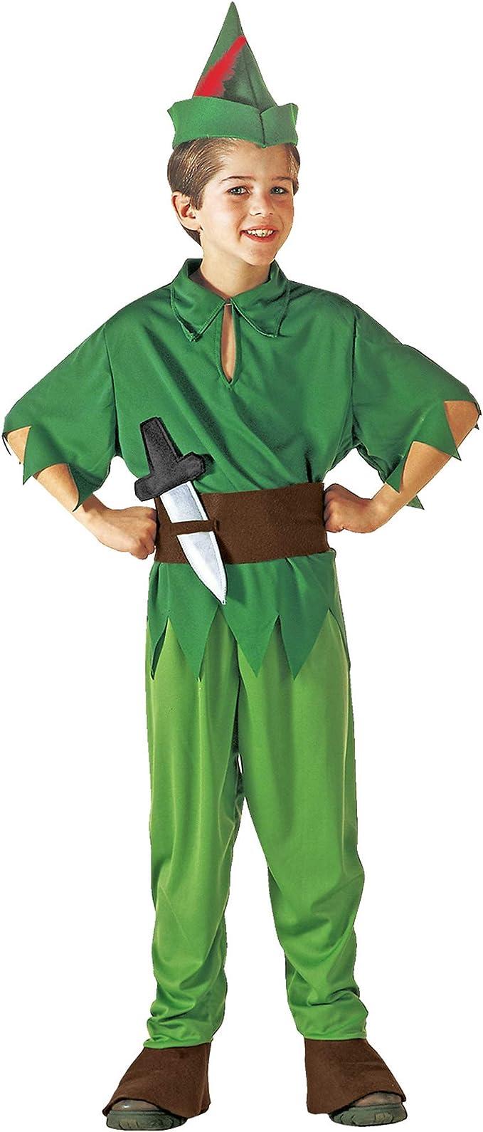 WIDMANN Peter Pan - Niños Disfraz - Medium - Edad 8-10 - 140cm ...