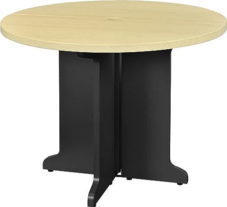 Ameriwood Home Pursuit Round Office Table Bundle, Natural