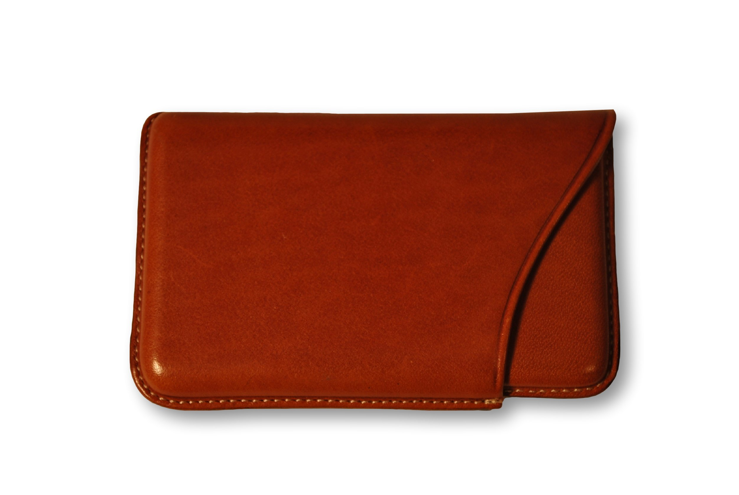 Budd Leather Company Slide Out Business Card Case, Tan (603100-3)
