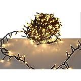 LED Lichterkette mit 560 LED - EXTRA warmweiß - mit Speicherchip und 8 Funktionen - für den Innen- und Außenbereich