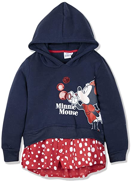 Disney - Sudadera con Capucha - para niña Azul Azul Marino 3 años