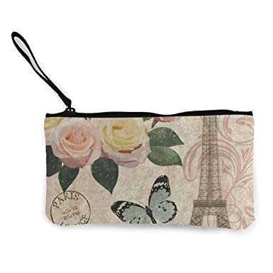 Amazon.com: Monedero de lona vintage Paris Eiffel Torre ...