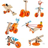 Hape Junior Inventor Deluxe Experiment Kit | 57 Piece Construction Building Toys, STEAM Science Kit for Kids 4 Years and Up (