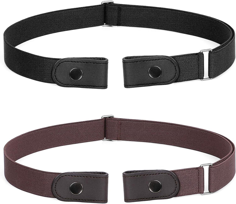 Women Men Unisex Buckle Free Stretchy Elastic Waist Belt Waistband Adjustable BJ