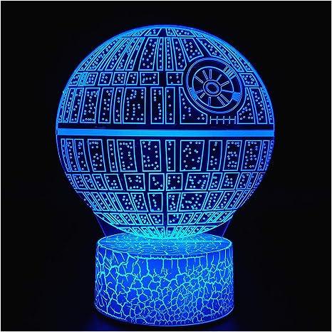 3D Illusion Star Wars LED Night Light For Kids 3 Style /& 7 Color Change Decor La