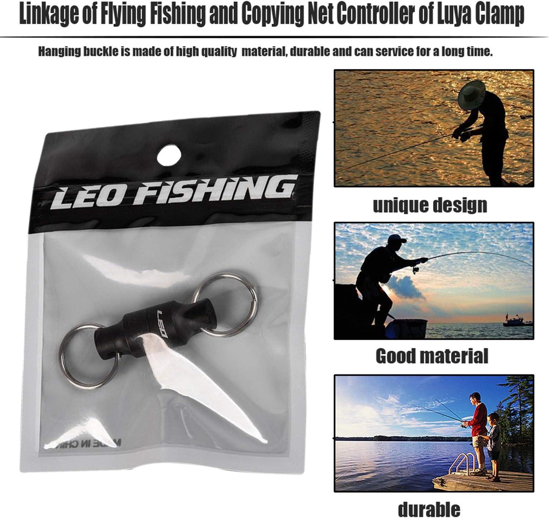 FairytaleMM Fly Fishing Magnetic Net Release Halter mit h/ängender Schnalle Magnet Net Gear Fishing Tool Angelger/ät