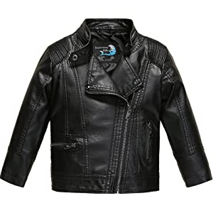 Amazon Com Ljyh Boys Faux Leather Jacket Children S Collar