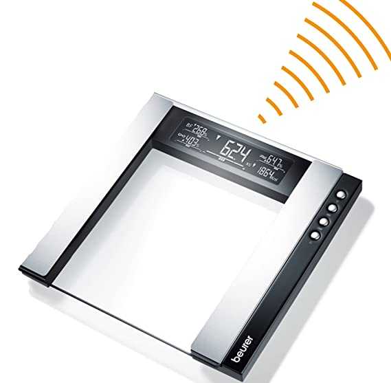 Beurer WM-80 - Pack con pulsímetro, báscula de baño diagnóstica y Speedbox