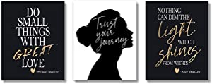 Brooke & Vine Inspirational Women Office Wall Decor Art Prints Teen Girl Room (UNFRAMED 8 x 10) Motivational Posters Home, Bedroom, Dorm or Cubicle (Women Office - Trust Your Journey)