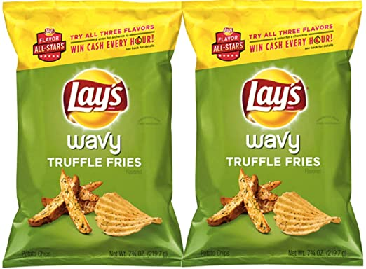 Lay de Wavy Truffle patatas fritas sabor todas las estrellas ...