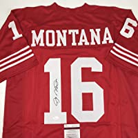 $199 » Autographed/Signed Joe Montana San Francisco Red Football Jersey JSA COA