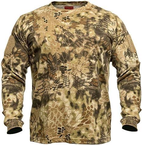 Kryptek Los Ojos de los Hombres Stalker Camiseta Manga Larga algodón Highlander Camuflaje: Amazon.es: Deportes y aire libre