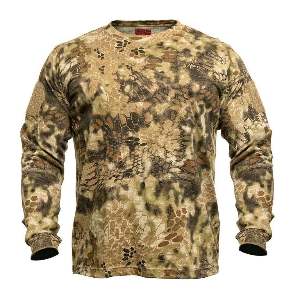 b0dc5c84ada75 Amazon.com   Kryptek Men s Stalker T-Shirt Long Sleeve Cotton   Sports    Outdoors
