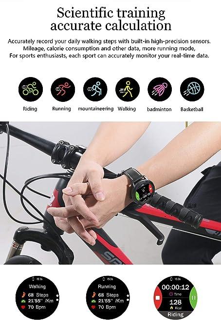 Smartwatch, seguimiento de actividad, llamada de asistencia ...