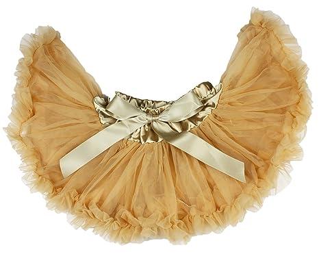 Petitebelle - Falda - trapecio - para niña dorado dorado 4-5 Años ...