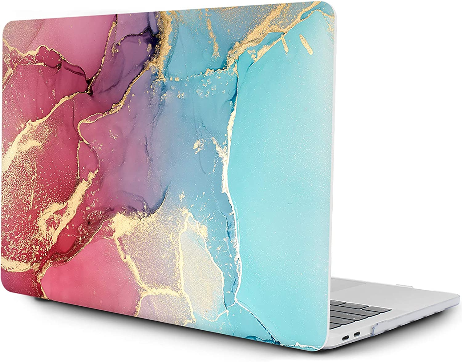 OneGET MacBook Pro 13 Inch Case with Touch Bar Laptop Case 2016 2019 A1989 A1706 A1708 A2159 MacBook Pro Cover for MacBook Pro 13 Inches Hard Shell Marble (A2159/A1989/A1706/A1708 Pro 13'', S180)