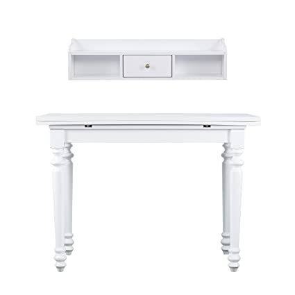 Amazon Com Furniture Hotspot Drop Leaf Console Table W Hutch