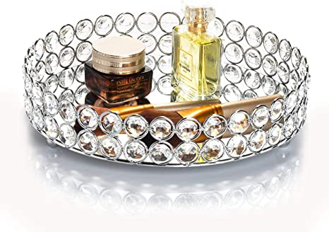 Kosmetiktablett Ablageschale Rund Tablett Jewelry Organizer Dekoschale mit