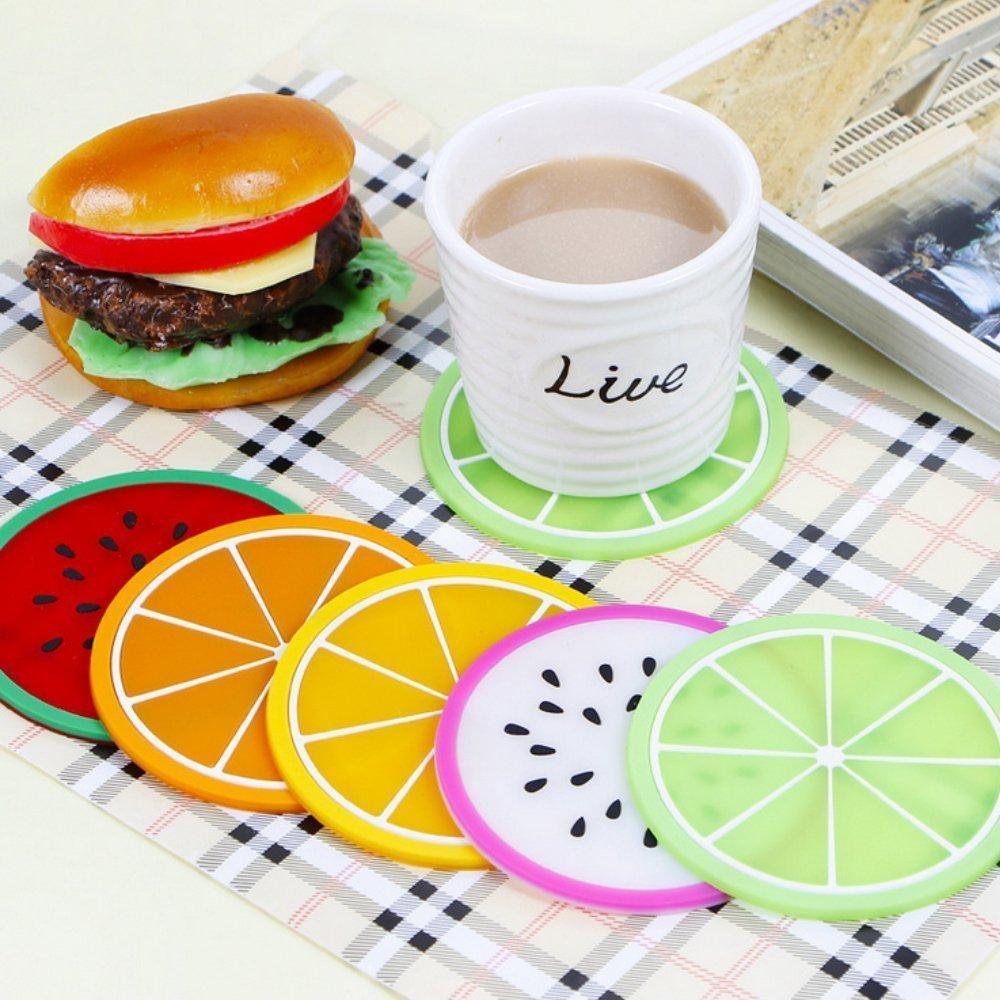 Abodellen 6/pcs color/é en silicone Dessous-de-verre Sets de table Tapis de tasse et D/éfinit