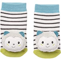 Fehn 057249 Rattle Socks Cat Activity Socks with Cute Animal Heads, Multi-Coloured