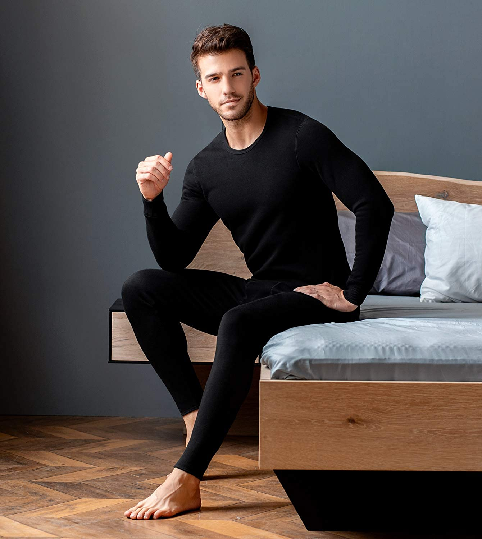 LAPASA Men/'s Ultra Heavyweight Thermal Underwear Set Winter Heavyweight Thermal Underwear Long Sleeve Tops Warm Thermal Bottoms Long Johns Pants M63