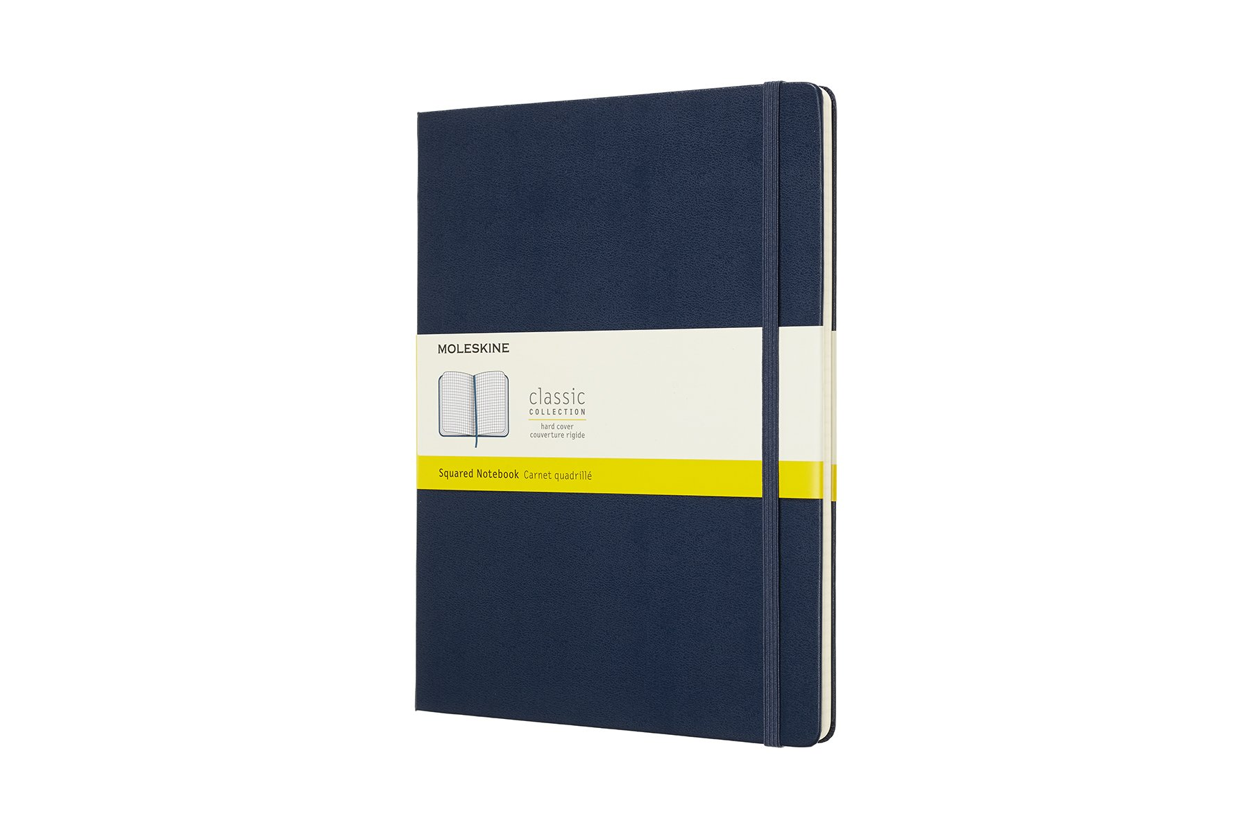 Moleskine Classic Notebook, Extra Large, Squared, Blu ()