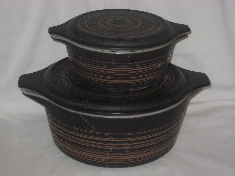 4 Piece Set - Vintage Pyrex Terra 1 1/2 Pint & 2 1/2 Quart Casserole